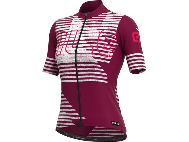 Alé Cycling PRR Horizon SS Jersey Women, amarillo/blanco